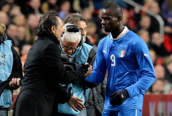 Cesare Prandelli et Mario Balotelli