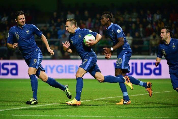 Franck Ribéry, après son égalisation hier soir à Gomel