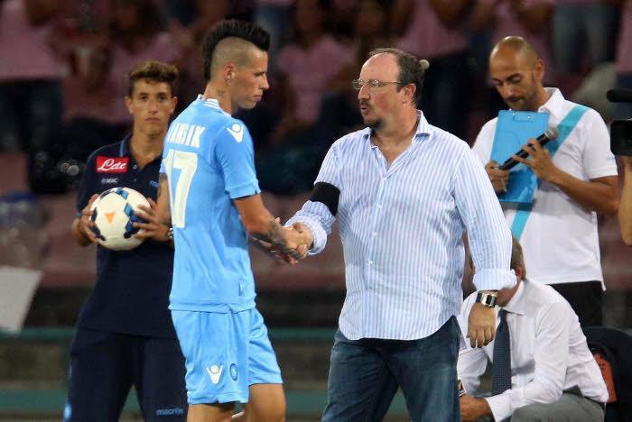 Marek Hamsik et Rafael Benitez, Naples