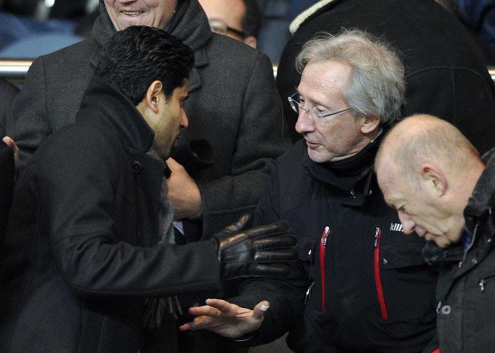 Franck Riboud aux côtés de Nasser El Khelaifi