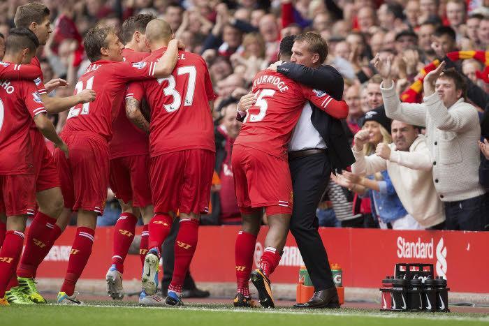 Liverpool en communion avec son entraineur Brendan Rodgers