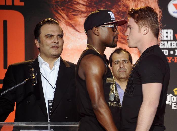 Mayweather face à Alvarez