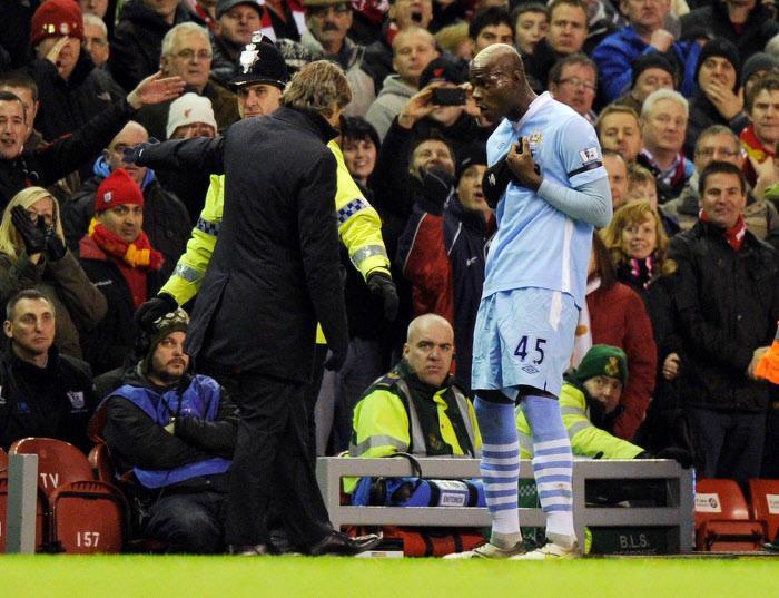 Mancini, Balotelli, Manchester City