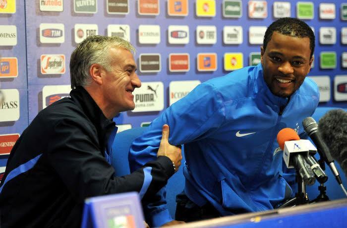 Didier Deschamps et Patrice Evra, équipe de France
