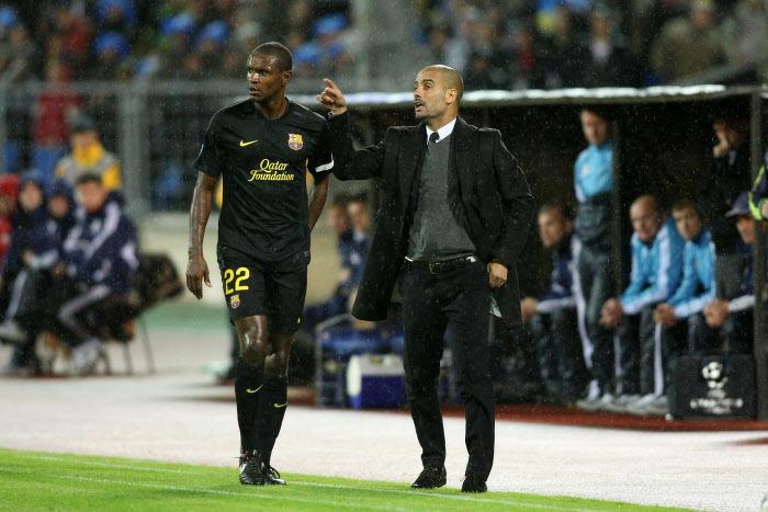 Eric Abidal & Pep Guardiola
