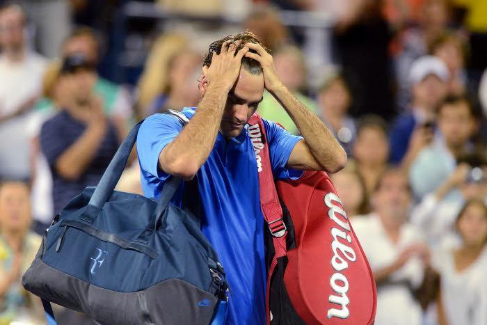 Roger Federer en larmes après son élimination de l'US Open