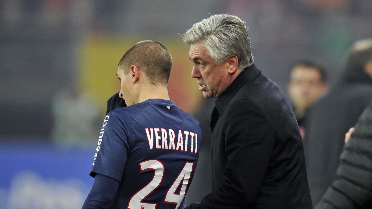 Carlo Ancelotti - Marco Verratti
