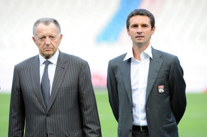 Jean-Michel Aulas et Rémi Garde, OL