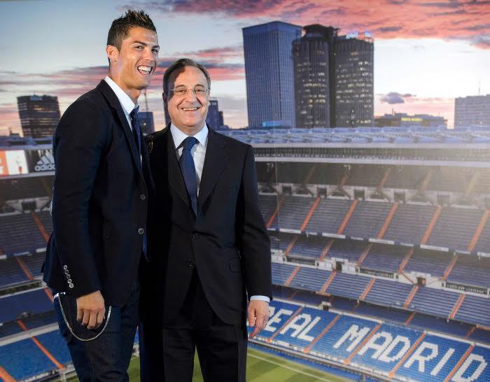 Florentino Pérez et Cristiano Ronaldo, Real Madrid