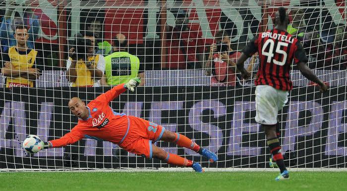 Naples - Reina : «Le penalty de Balotelli ? L'arrêt le plus important de ma carrière»