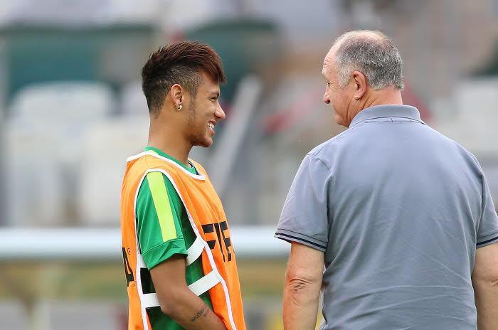 Neymar, Scolari, Brésil