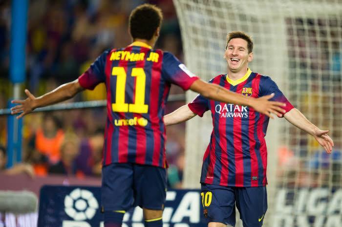 Neymar, Messi, Barcelone