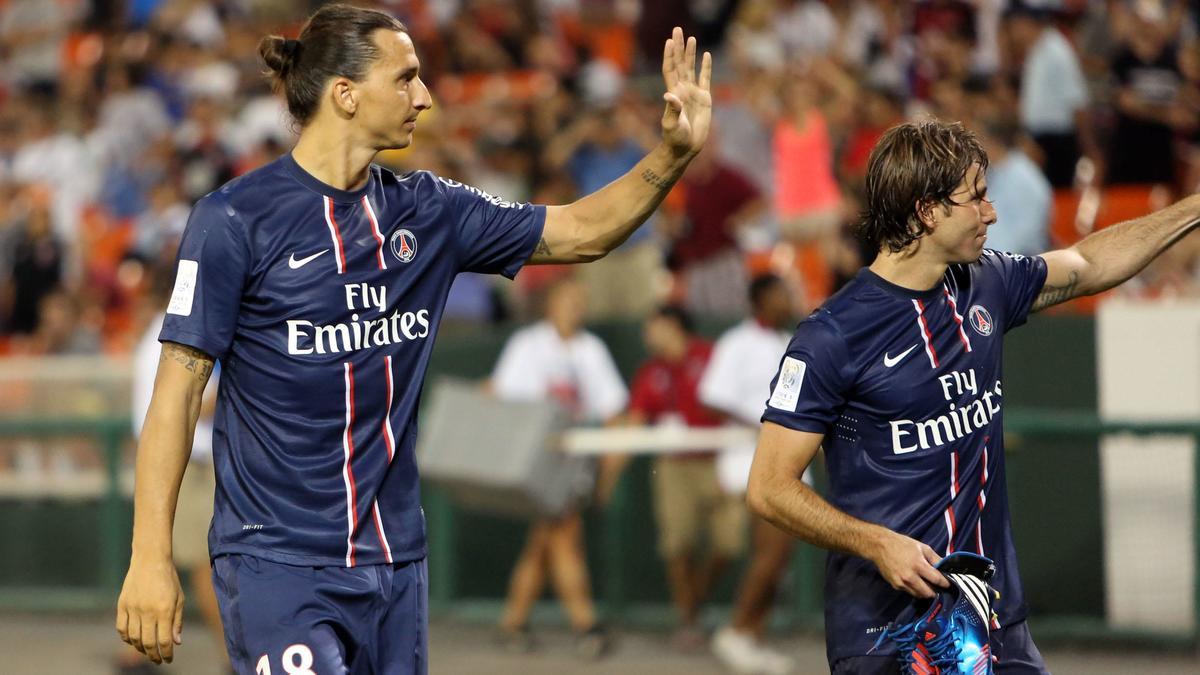 Zlatan Ibrahimovic & Maxwell, PSG