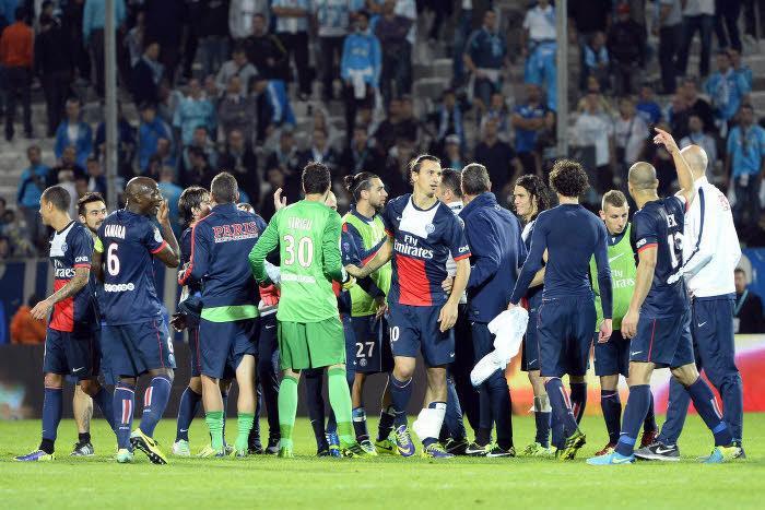 Les Parisiens ont savouré leur victoire à l'issue de la rencontre