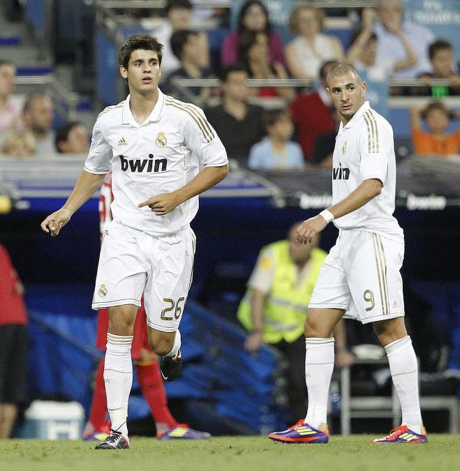 Alvaro Morata et Karim Benzema, Real Madrid