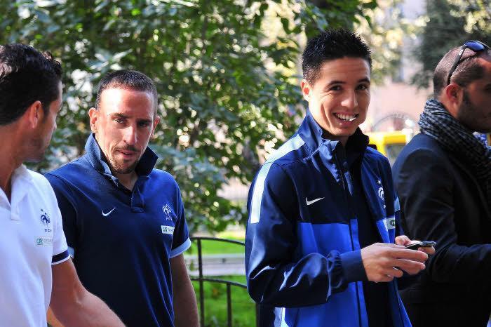 Ribéry, Nasri, Équipe de France