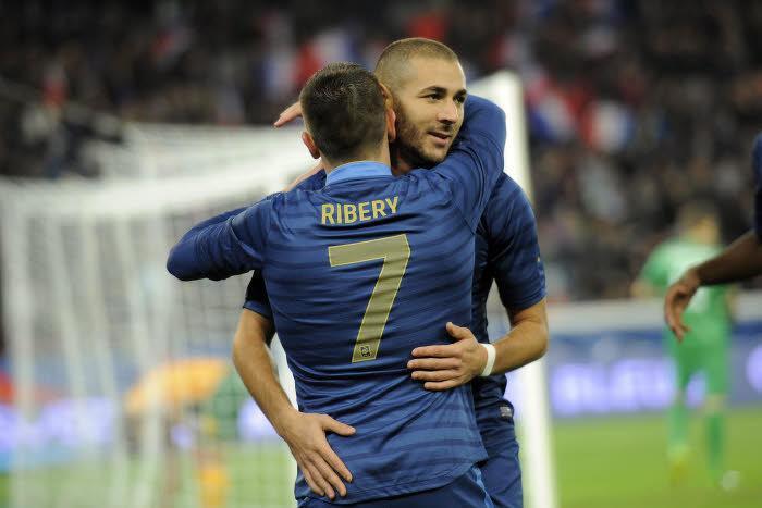Ribéry, Benzema, Équipe de France