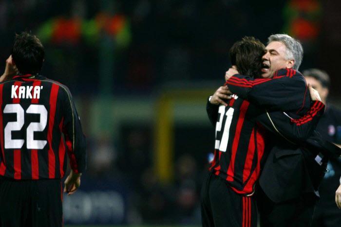 Pirlo, ancelotti, Milan AC