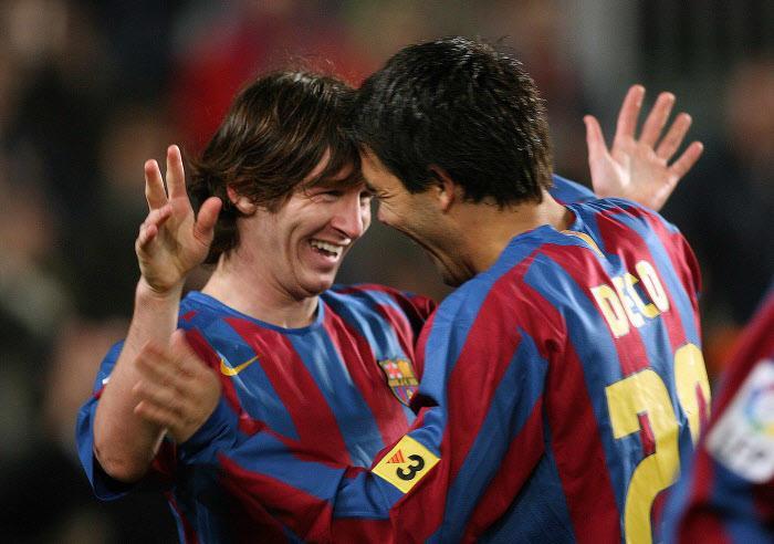 Deco et Messi, Barcelone