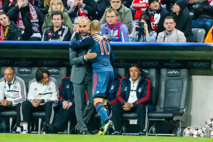Pep Guardiola & Arjen Robben