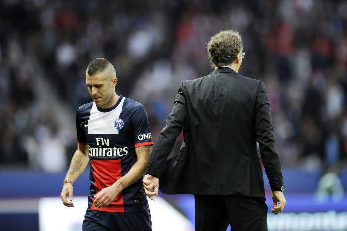 Jérémy Ménez et Laurent Blanc, PSG