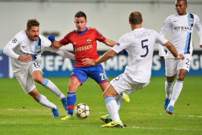 Le fameux match CSKA Moscou - Manchester City