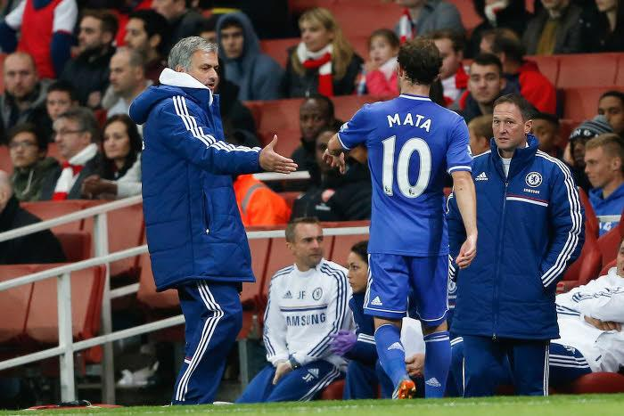 Juan Mata et José Mourinho, Chelsea