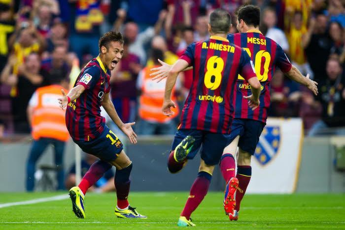 Neymar, Lionel Messi, Andrès Iniesta, Barcelone