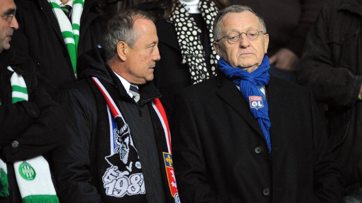 Bernard Lacombe & Jean-Michel Aulas, équipe de France