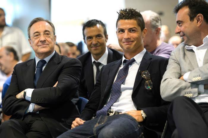 Cristiano Ronaldo et Florentino Pérez, Real Madrid