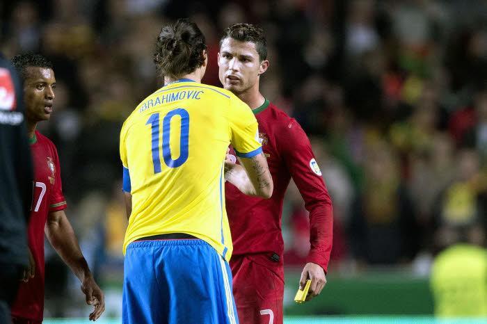 Ibrahimovic : «Cristiano Ronaldo le meilleur du monde ? Il a juste marqué un but de plus que moi»