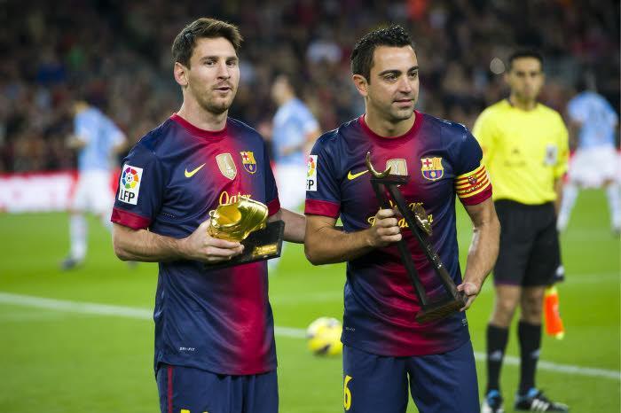 Lionel Messi & Xavi