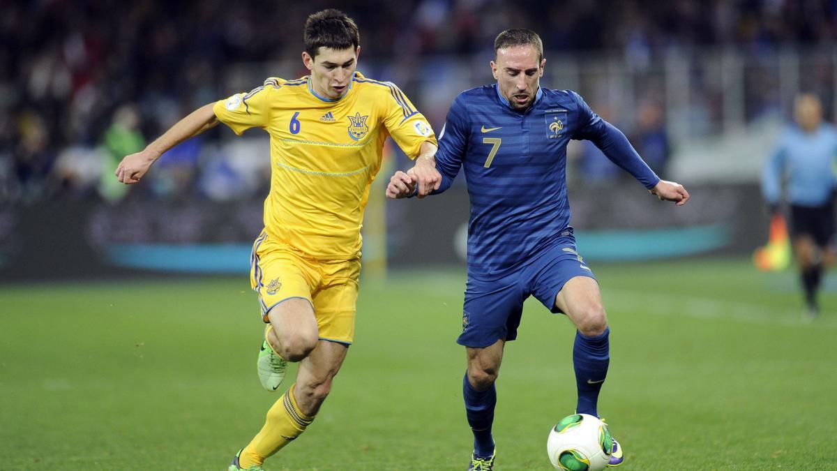Ribéry face à l'Ukraine