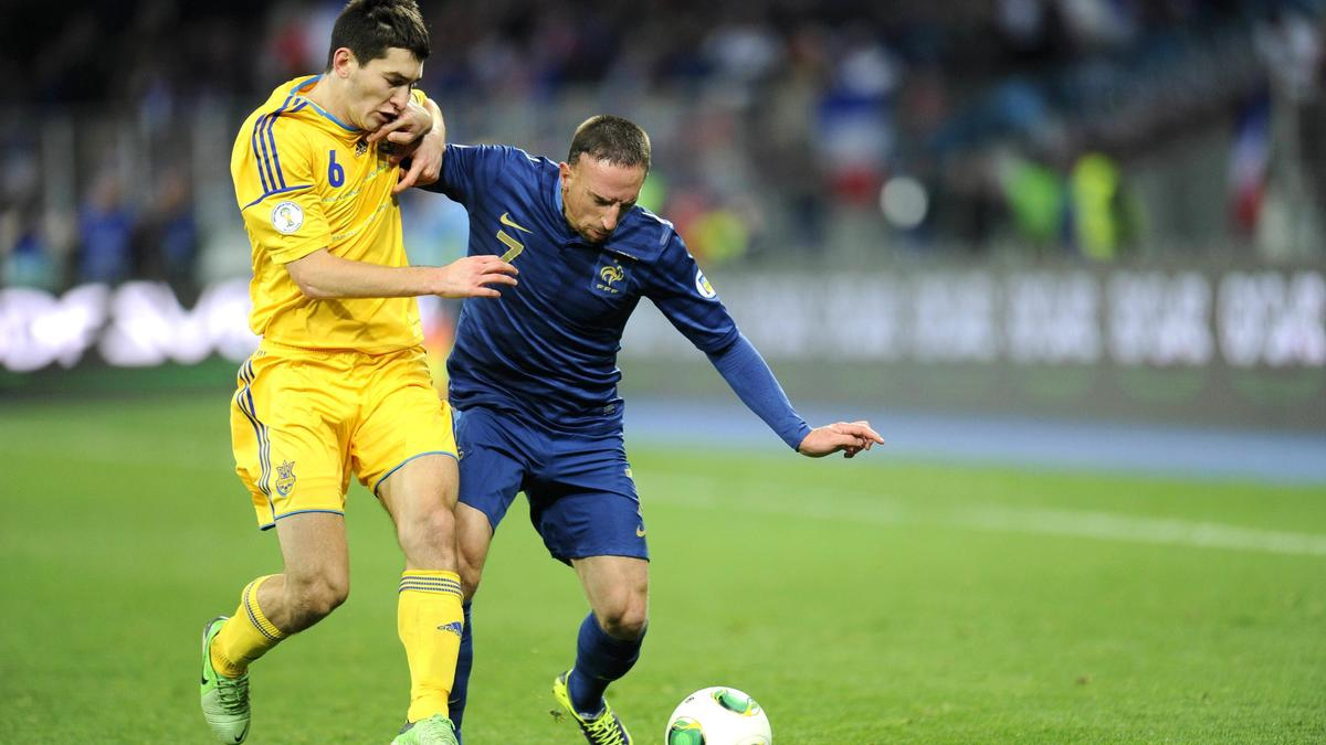 Franck Ribéry face à l'Ukraine