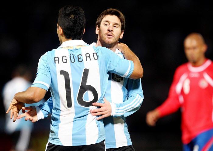 Lionel Messi et Sergio Agüero, Argentine