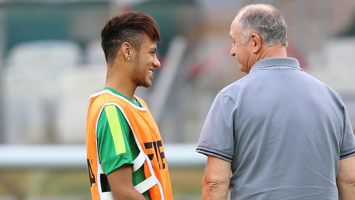 Neymar & Luis Felipe Scolari, Brésil