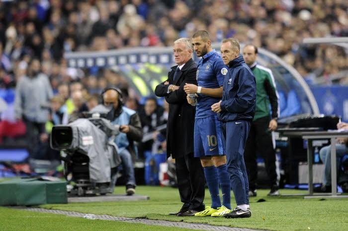 Didier Deschamps et Karim Benzema, équipe de France