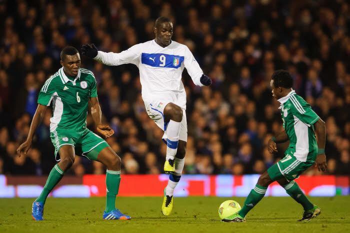 Mario Balotelli n'a pas trouvé la faille face à Vincent Enyeama