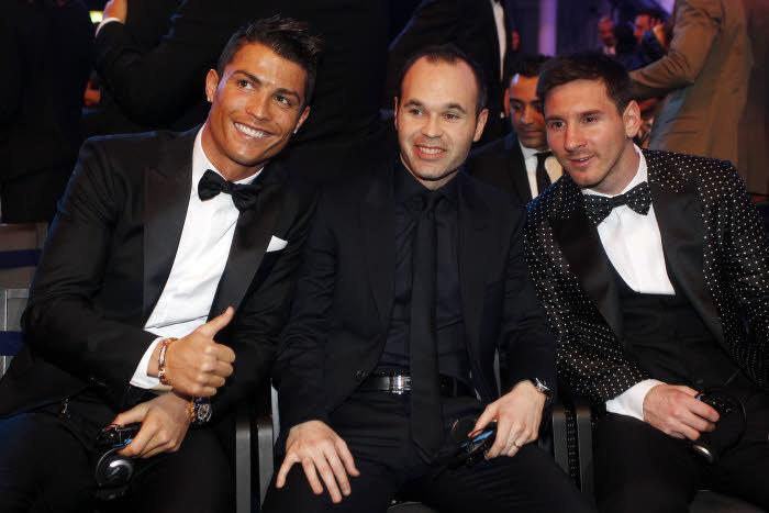 Ronaldo, INiesta, Messi