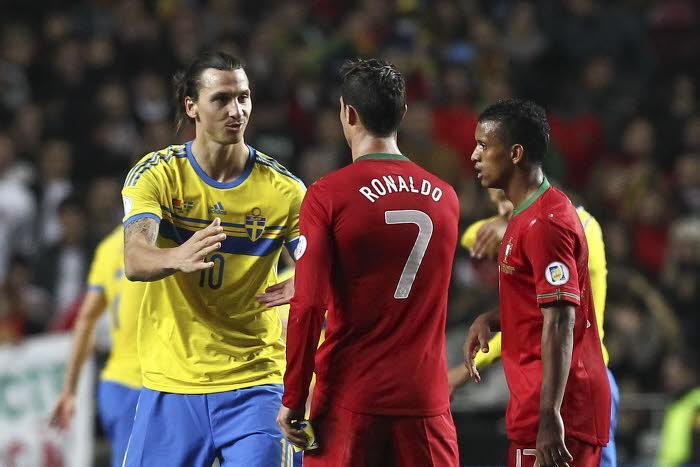 Cristiano Ronaldo et Zlatan Ibrahimovic
