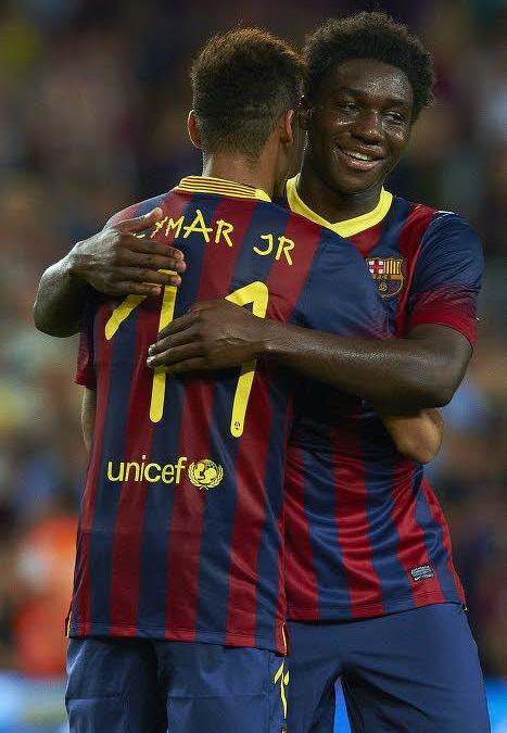 Jean-Marie Dongou et Neymar, Barcelone