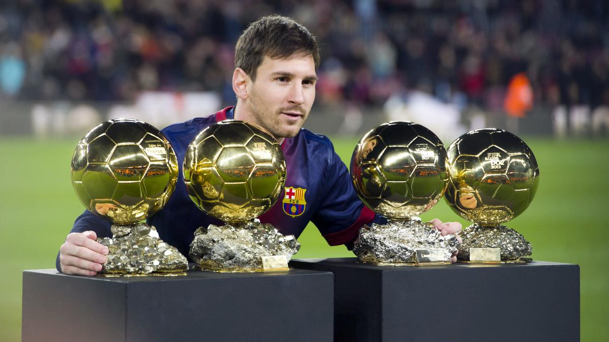 Messi et ses 4 ballons d'or