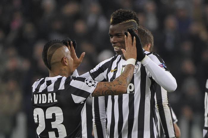 Arturo Vidal et Paul Pogba, Juventus