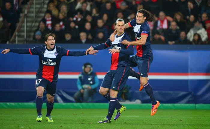 Zlatan Ibrahimovic, Edinson Cavani, PSG