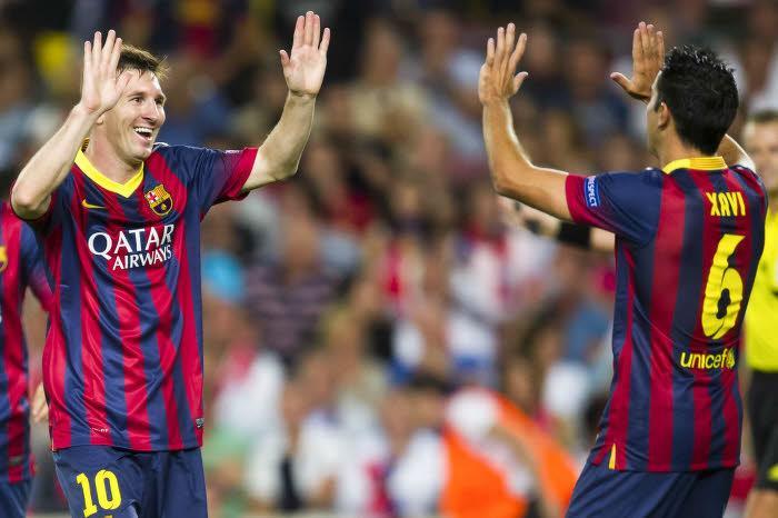 Lionel Messi, Xavi, Barcelone
