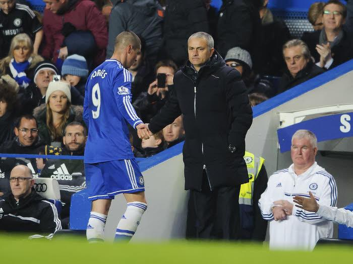 Fernando Torres et José Mourinho, Chelsea