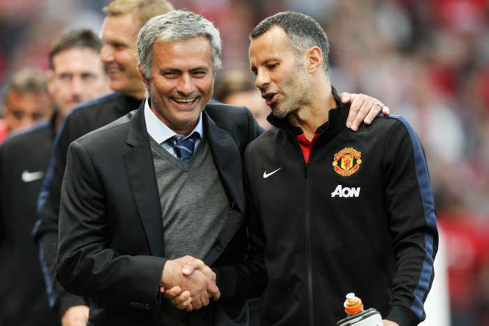 José Mourinho et Ryan Giggs