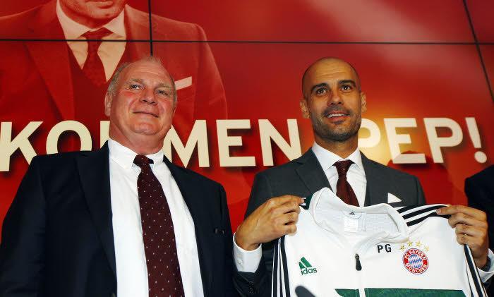 Pep Guardiola et Uli Hoeness, Bayern Munich
