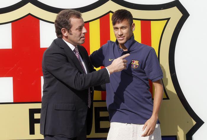 Sandro Rosell & Neymar, FC Barcelone