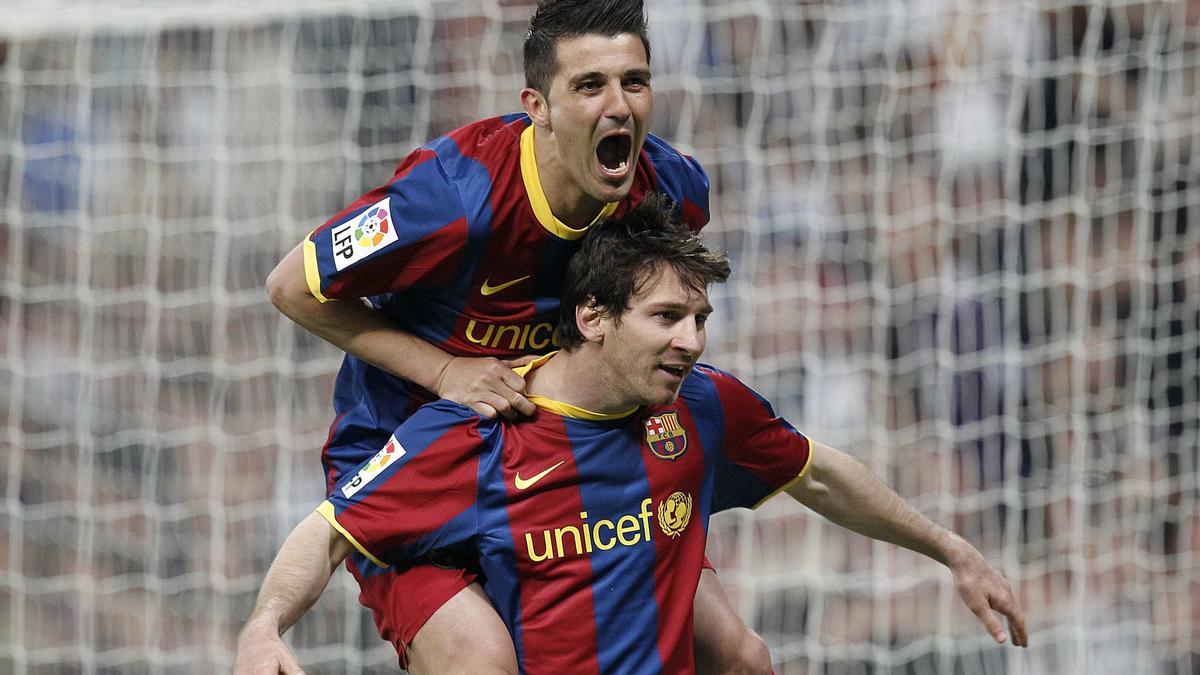 David Villa - Lionel Messi